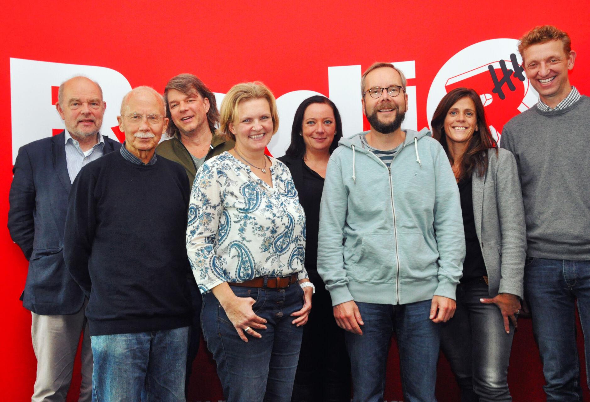 Gruppenfoto der Verein Radio Hamburg