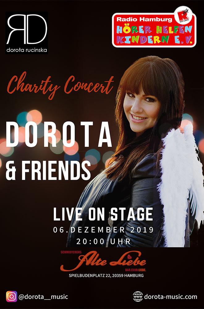 Plakat Dorota Rucinska spielt für Hörer helfen Kindern ein Charity-Konzert