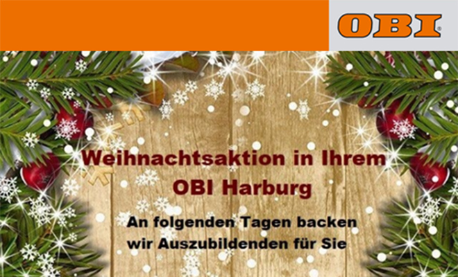 Advents-Samstage bei OBI in Harburg