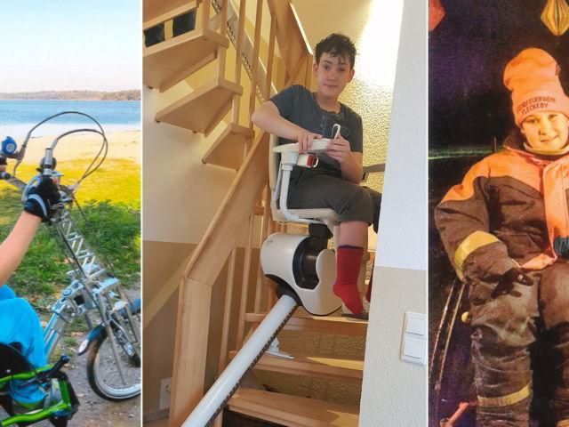 Introbild Leif Messerschmidt Treppenlift finanziert durch Hörer helfen Kindern