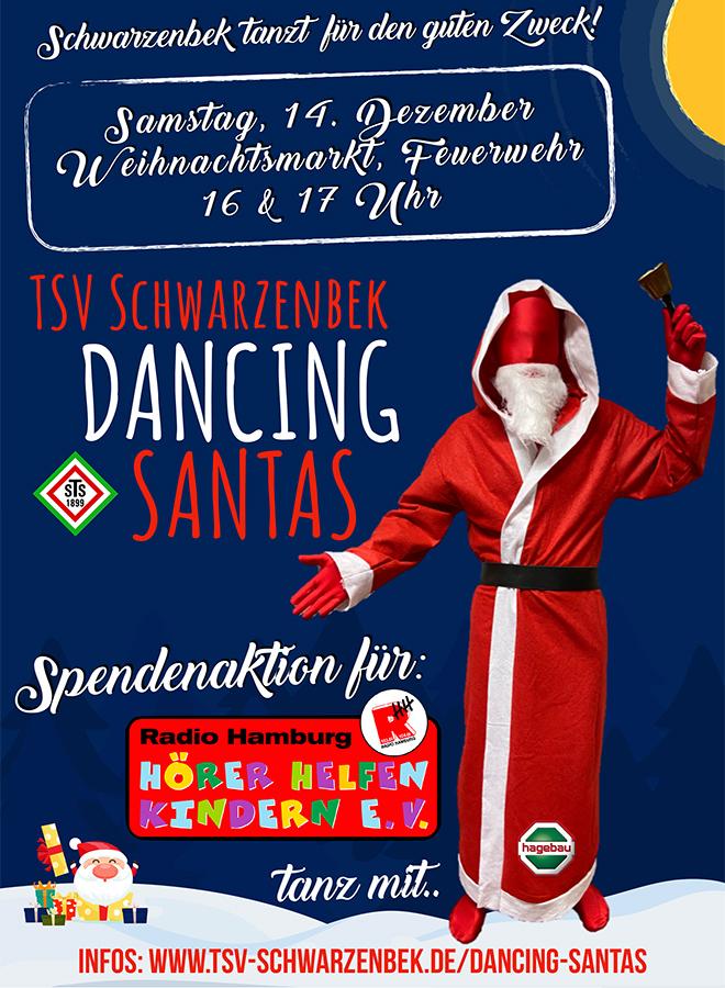 Poster Dancing Sanstas des TSV Schwarzenbek für Hörer helfen Kindern