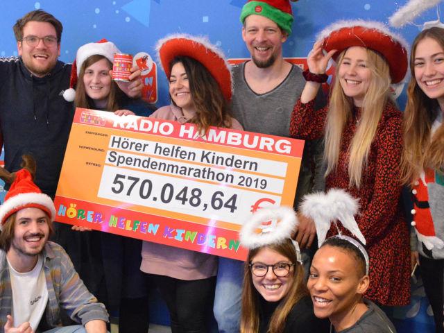 Introbild Finale des Hörer helfen Kindern Spendenmarathons 2019