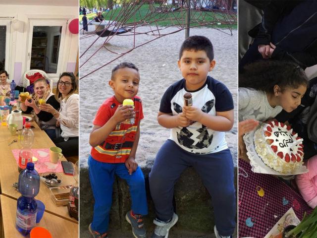 Introbild Spende für Hörer helfen Kindern für das Spielhaus Danziger Straße