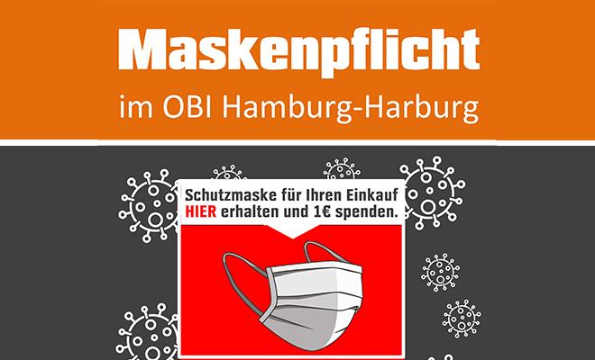 OBI Markt Harburg- Masken gegen Spende