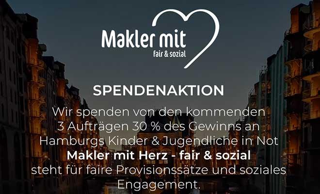 Spendenaktion von Makler mit Herz