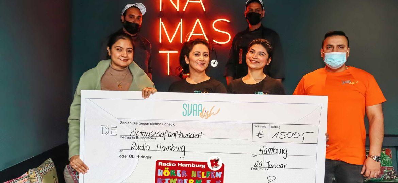 Introbild Spendenaktion vom Restaurant SVAAdish für Hörer helfen Kindern