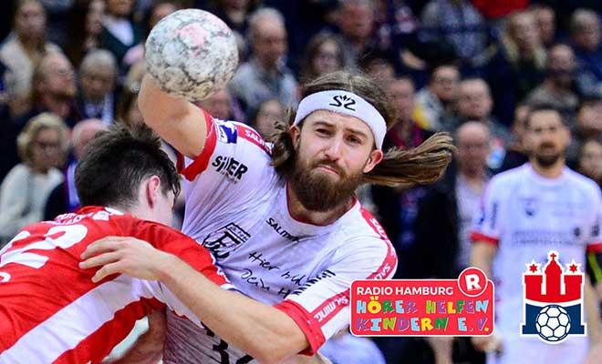 Alle Heimspiele des Handball Sportverein Hamburg unterstützen Hörer helfen Kindern